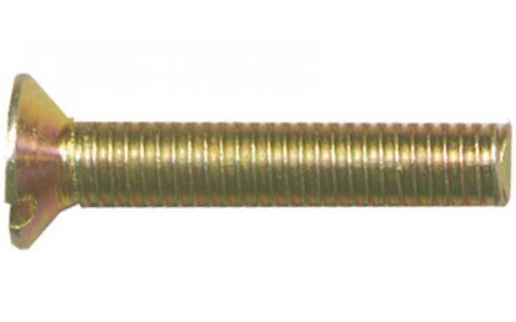 DIN 963, stal, KL 4.8, żółty ocynk
