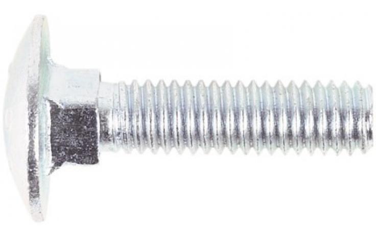 DIN 603, bez nakrętki, KL 8.8, ocynk
