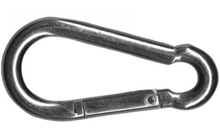 DIN 5299, karabińczyk, forma C, stal szlachetna A2