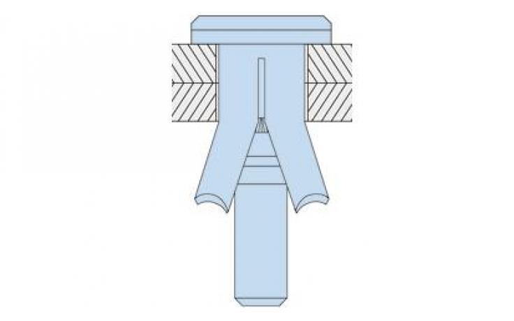 Typ HBCSK (śruba wpuszczana) stal, ocynk galwaniczny