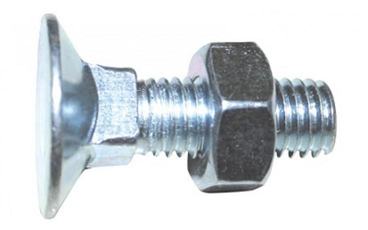 Senkschraube DIN 605 - 4.6 - verzinkt blau - M8 X 30 - mit Mutter