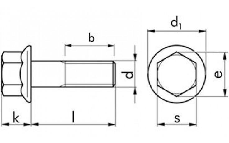 Sechskantschraube mit Flansch DIN 6921 - A2-70 - M6 X 35