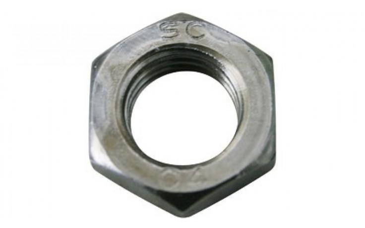 Flache Sechskantmuttern M12 DIN 439 Form B FKL 04 Stahl blank
