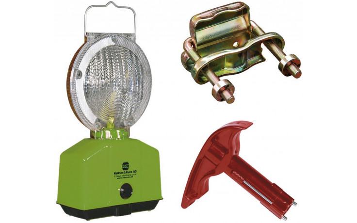 Lampenschlüssel für Baustellen-Blinklampen