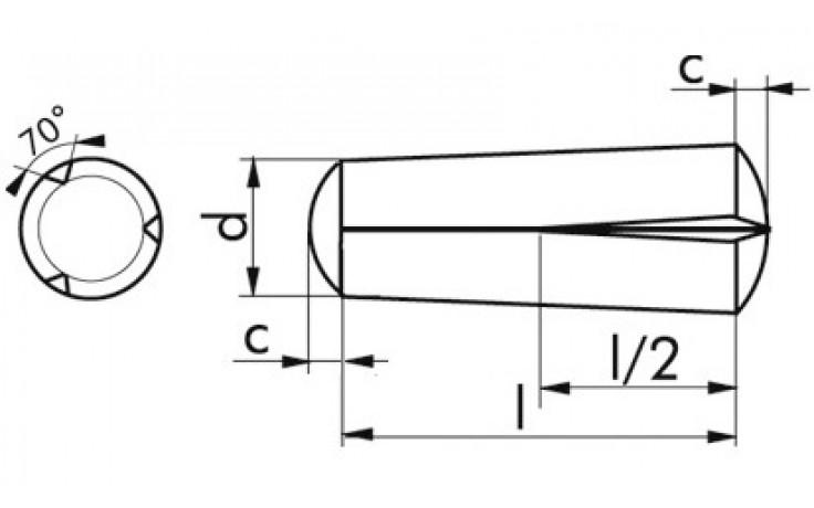 Passkerbstifte 2 x 16 mm DIN 1472 Stahl blank