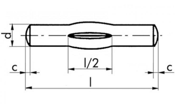 Knebelkerbstifte 3 x 20 DIN 1475 Stahl blank
