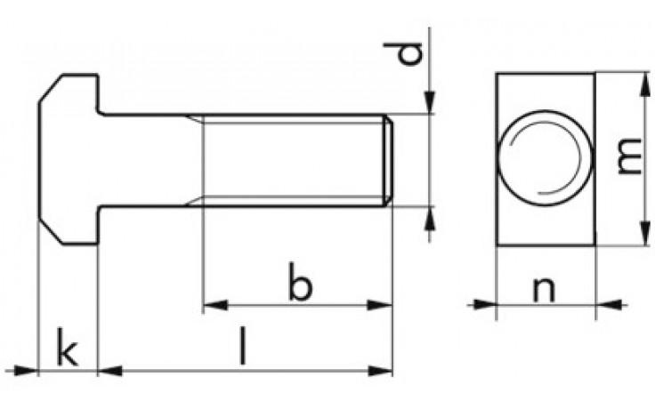 Hammerschraube DIN 186A - A4 - M24 X 80