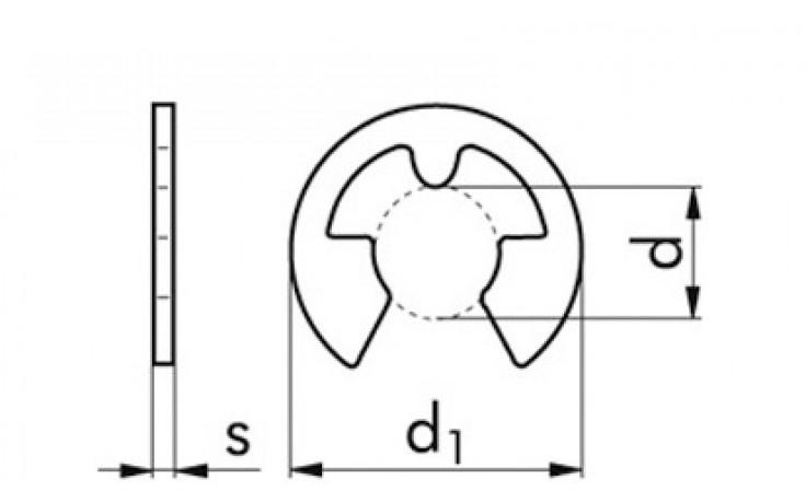 Sicherungsscheiben für Wellen DIN 6799 Edelstahl rostfrei 1.4122 7 mm