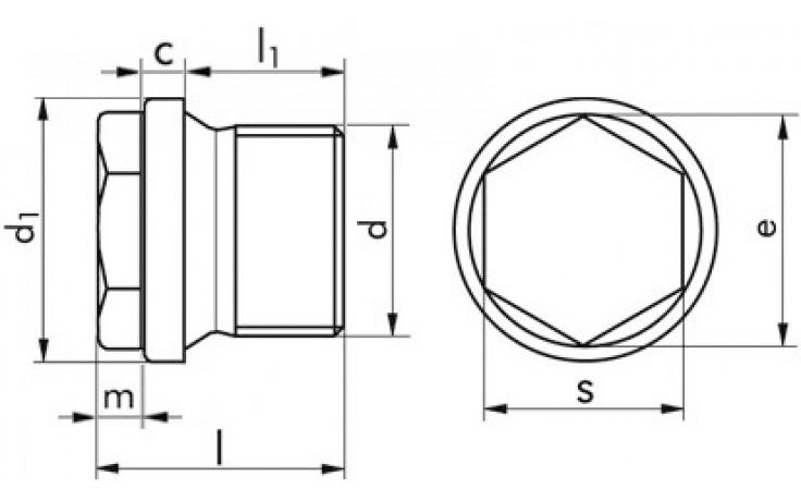 Verschluss-Schrauben M24 x 1,5 DIN 910 FKL 5.8 Stahl verzinkt