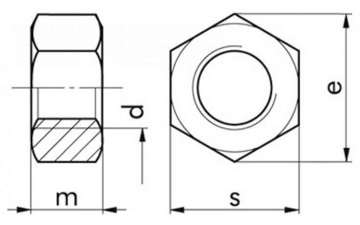 Sechskantmuttern M48 DIN 934 FKL 5-2 Stahl verzinkt
