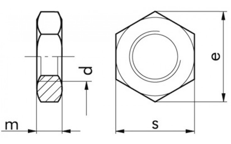 Sechskantflachmuttern M16 DIN 936 FKL 04 Stahl verzinkt
