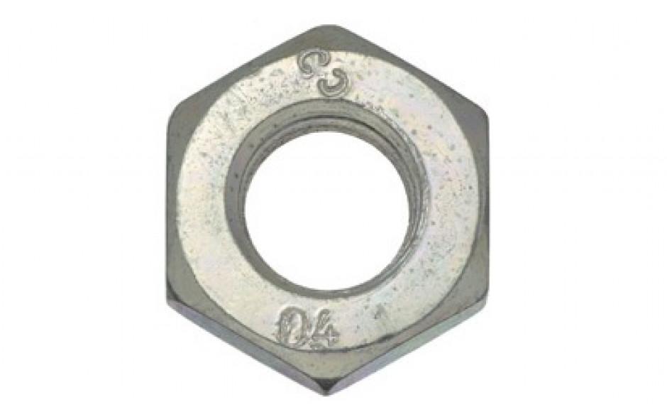 Sechskantflachmuttern M14 DIN 936 FKL 04 Stahl verzinkt