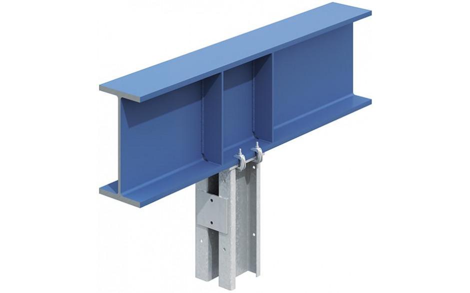 Lindapter® Flanschklemme Typ F9 ohne Schraube - Temperguss - verzinkt blau - F910NB