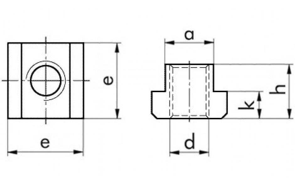 T-Nutensteine M 20 x 22 DIN 508 FKL 10 Stahl blank