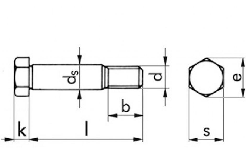 Passschraube DIN 609 - 10.9 - blank - M20 X 60