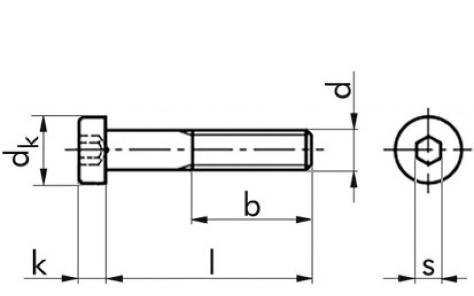Zylinderschrauben mit Innensechskant DIN 7984 Edelstahl A4-070 M 8 x 16 mm