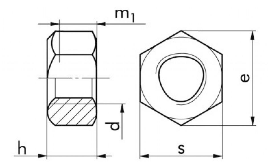 980 V Sicherungsmutter 8 FLZNNC-720H-L M 12