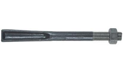 Steinschraube DIN 529F - 4.6 - blank - M12 X 160 - mit Mutter