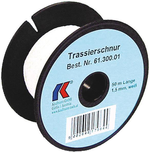 Maurerschnur, 2,0 mm, weiss, 100 Meter Rolle