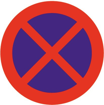 Baustellenverkehrszeichen § 52/13b Halten und Parken verboten 480 x 1,5 mm