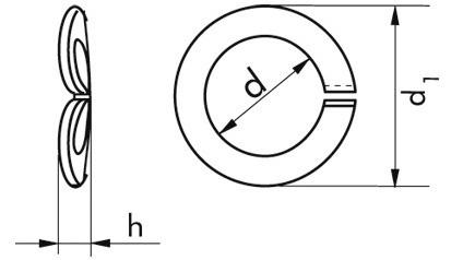 Federringe M12 DIN 128 Form A Edelstahl A4