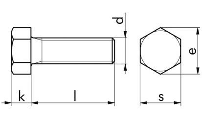 Sechskantschraube DIN 558 - 4.6 - verzinkt blau - M12 X 70