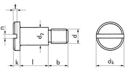 Flachkopfschraube m. Schlitz M 6x5 DIN 923 FKL 5.8 Stahl blank